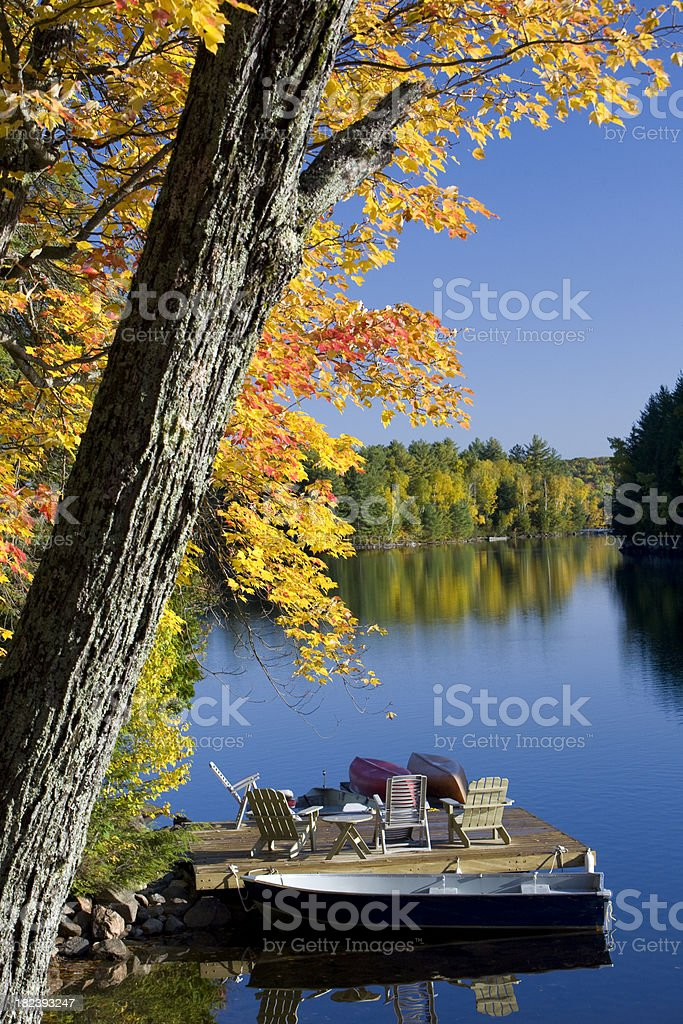 Autumn colours at the Lake royalty-free stock photo