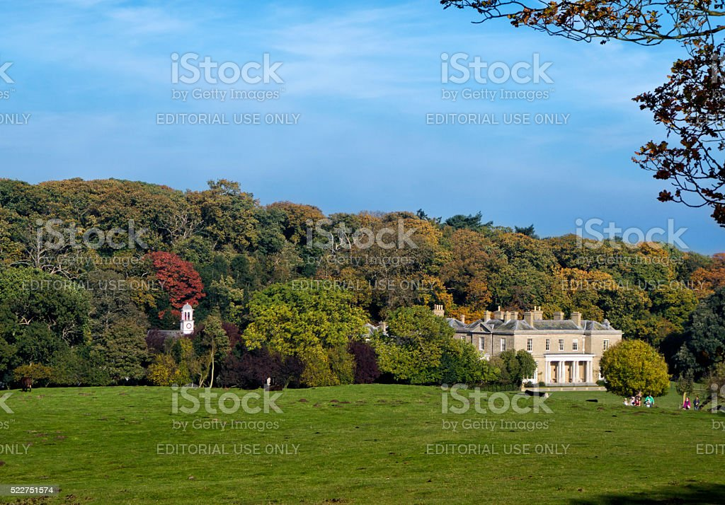Autumn colours in Sheringham Park stock photo