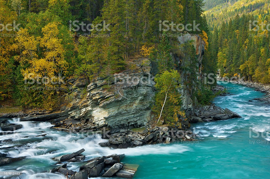 Autumn Colours of Rearguard Falls stock photo