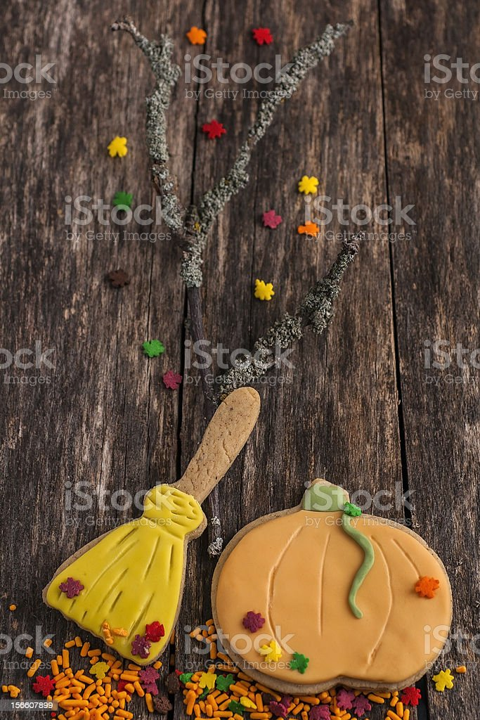 Autumn cookies for Halloween royalty-free stock photo