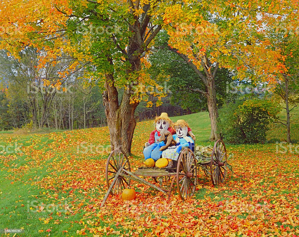 Autumn country side in Vermont stock photo