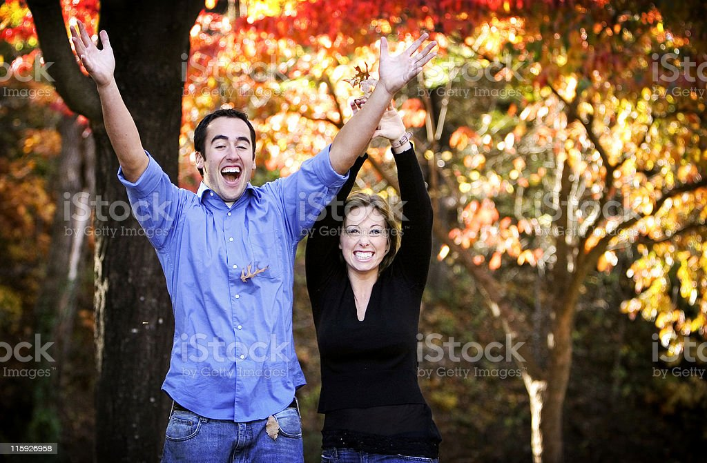 autumn couple portraits royalty-free stock photo