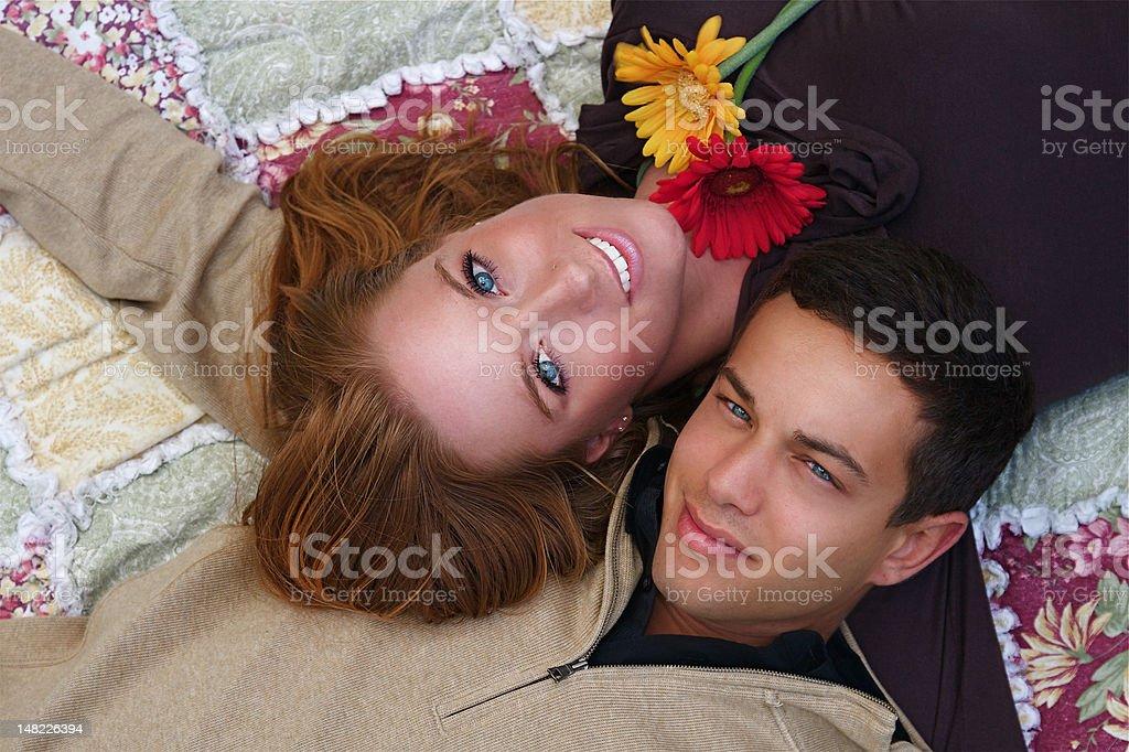 Autumn Couples royalty-free stock photo