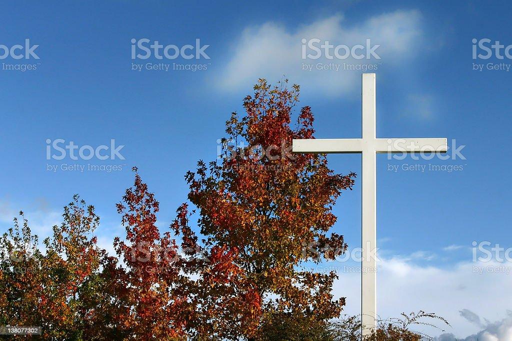 Autumn Cross royalty-free stock photo