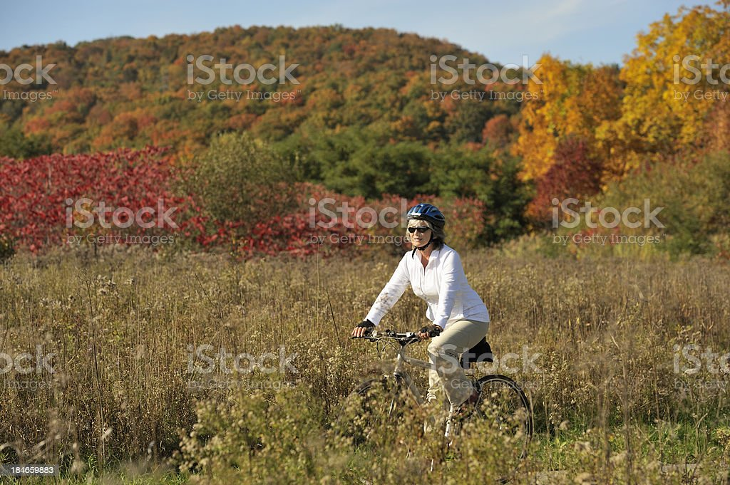 Autumn cycling royalty-free stock photo