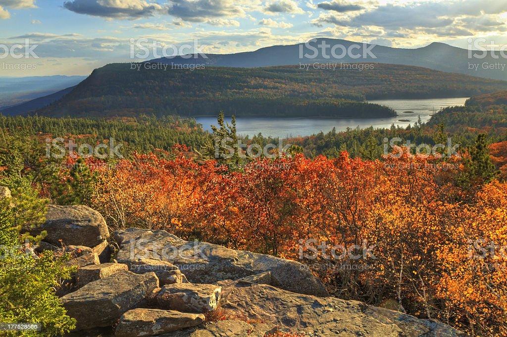 Autumn Day at Sunset Rock stock photo