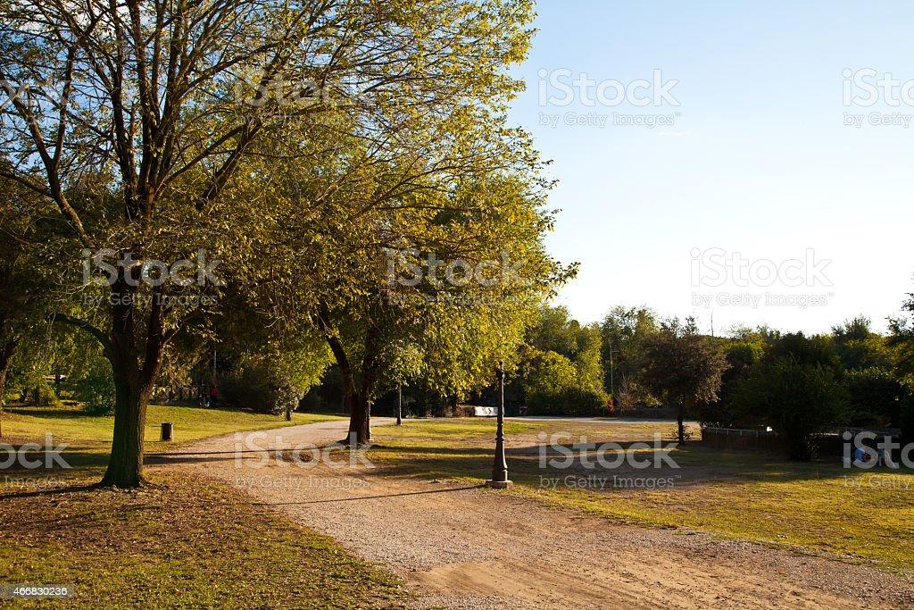 Осенний день в городе парк в Риме Стоковые фото Стоковая фотография