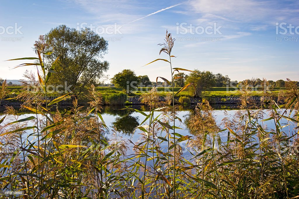 Autumn day in the beautiful Havelland stock photo