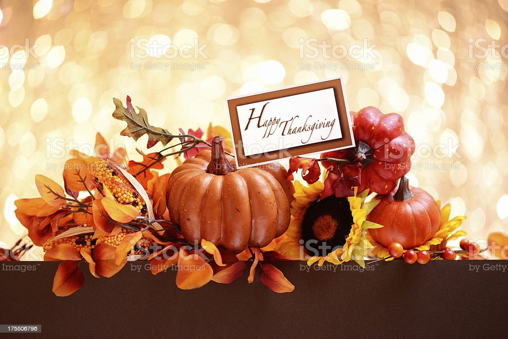 Autumn decoration with brown copy space royalty-free stock photo