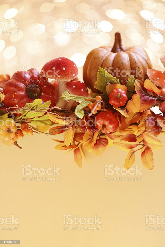 Autumn decoration with copy space royalty-free stock photo