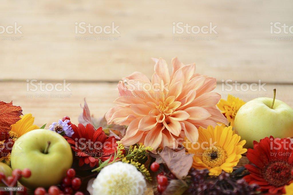 autumn decorations stock photo