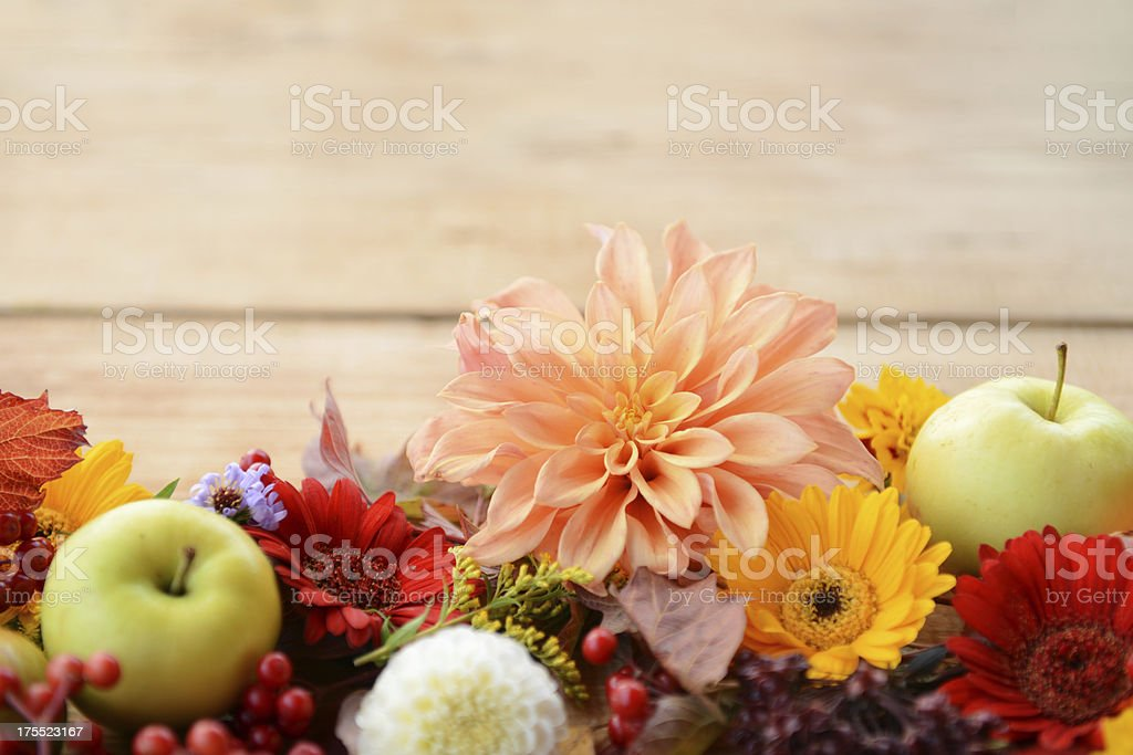autumn decorations stock photo