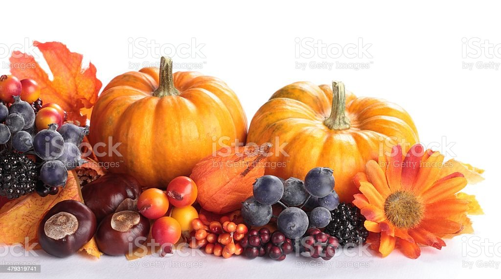 Autumn  decorations royalty-free stock photo