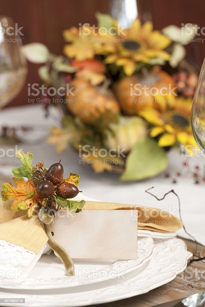 Autumn Dining Table stock photo