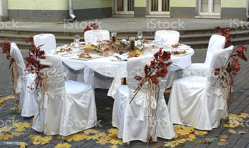 autumn dinner royalty-free stock photo