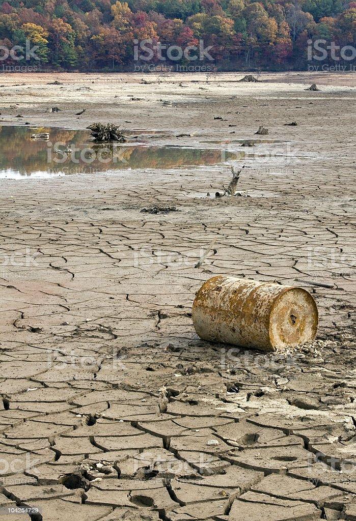 Autumn Drought royalty-free stock photo