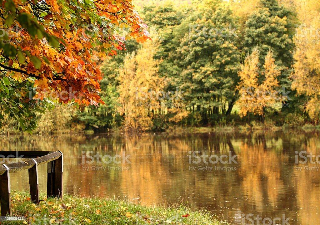 Autumn Embankment royalty-free stock photo