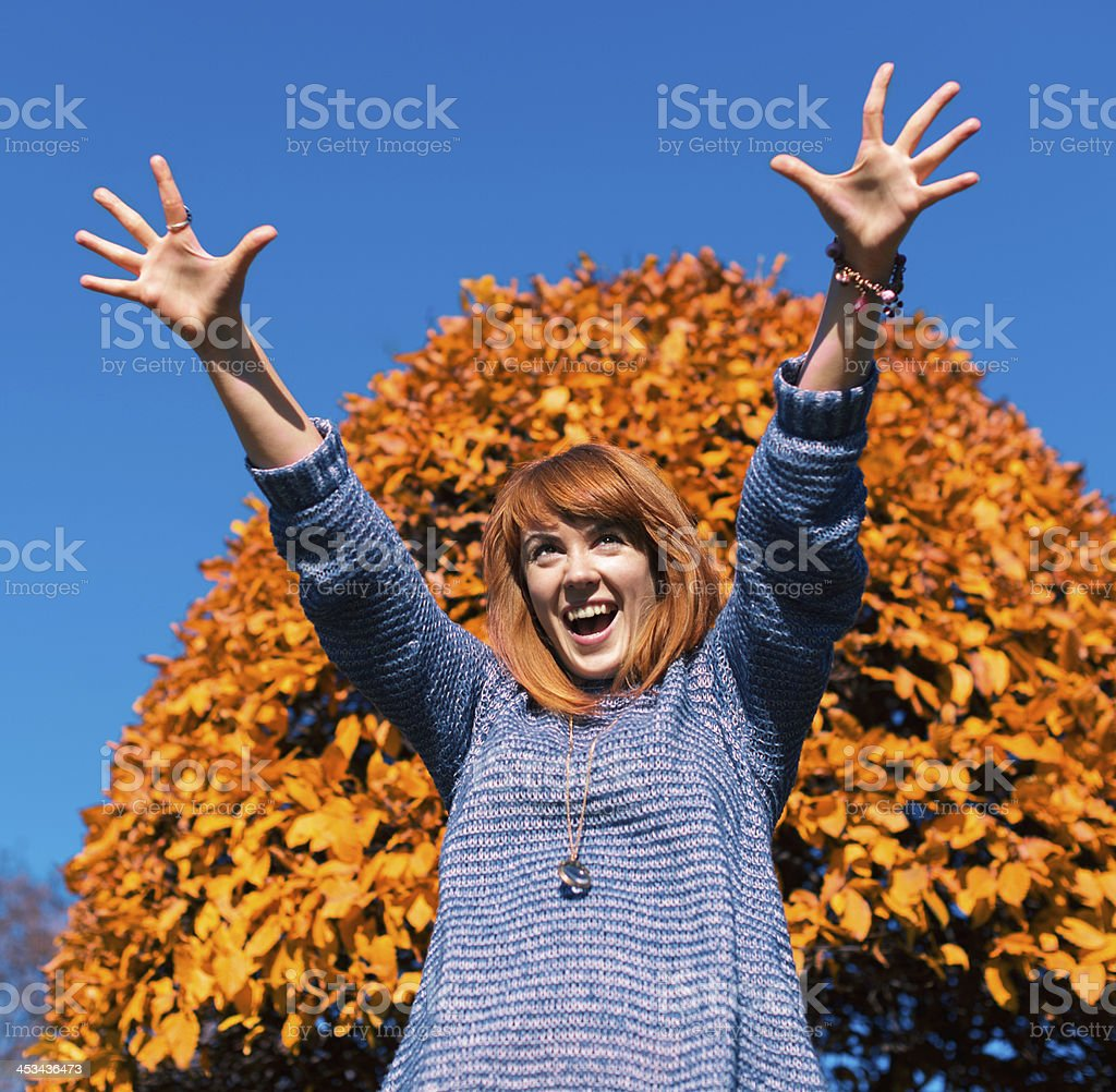 Autumn Emotions royalty-free stock photo