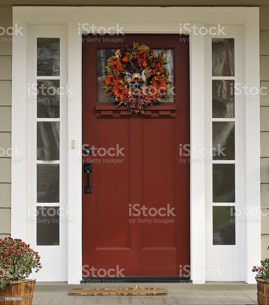 Autumn Entrance royalty-free stock photo