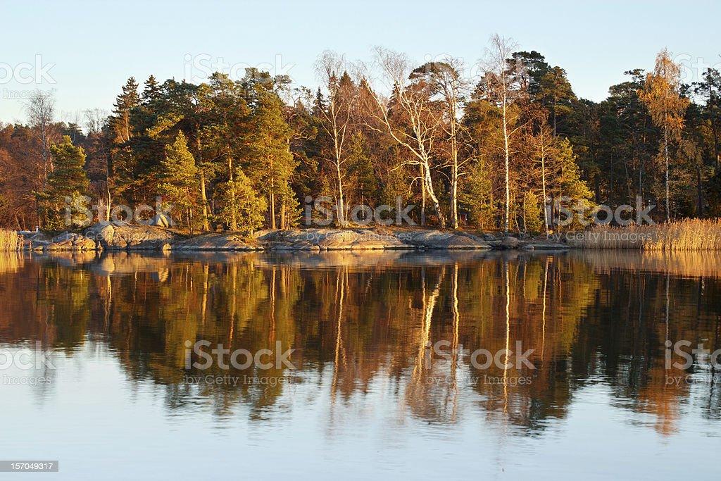 Autumn evening seascape royalty-free stock photo