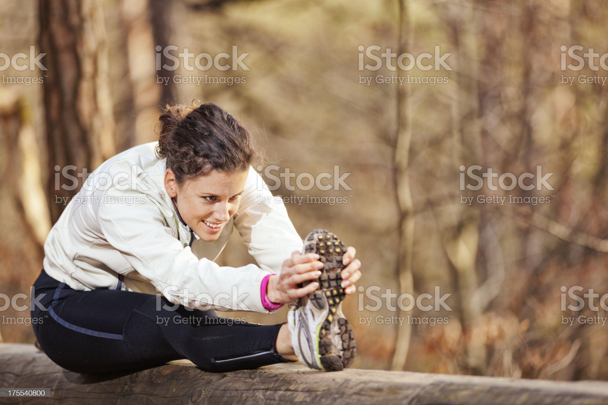 autumn exercising royalty-free stock photo
