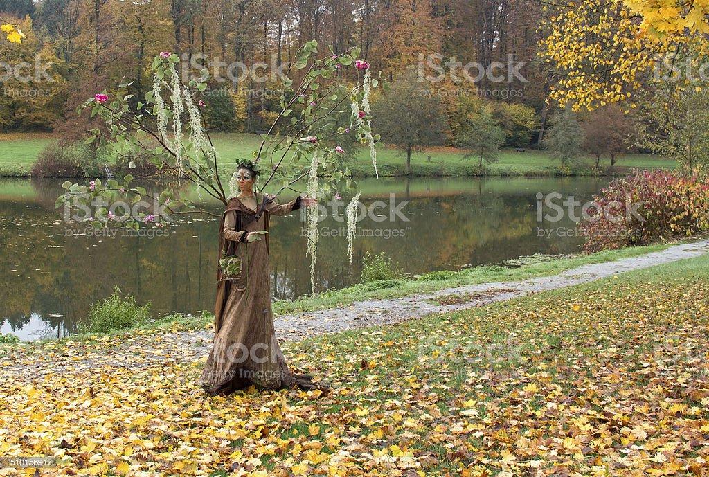 autumn fairy stock photo