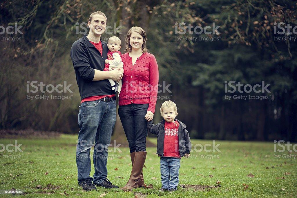 Autumn Family of Four royalty-free stock photo