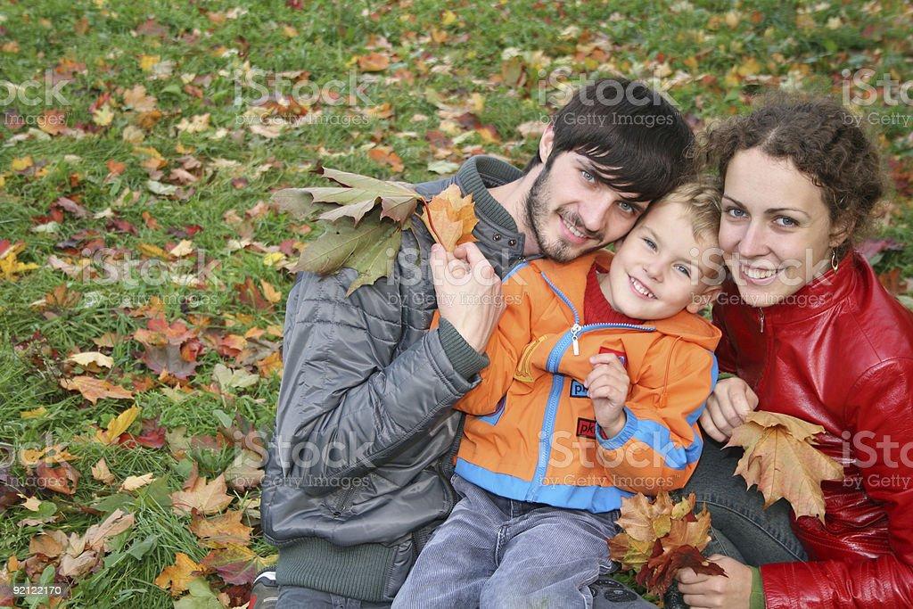 autumn family royalty-free stock photo