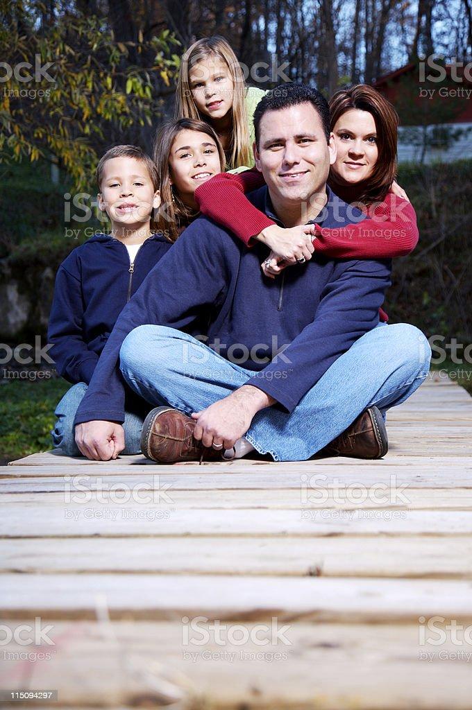 autumn family portraits royalty-free stock photo