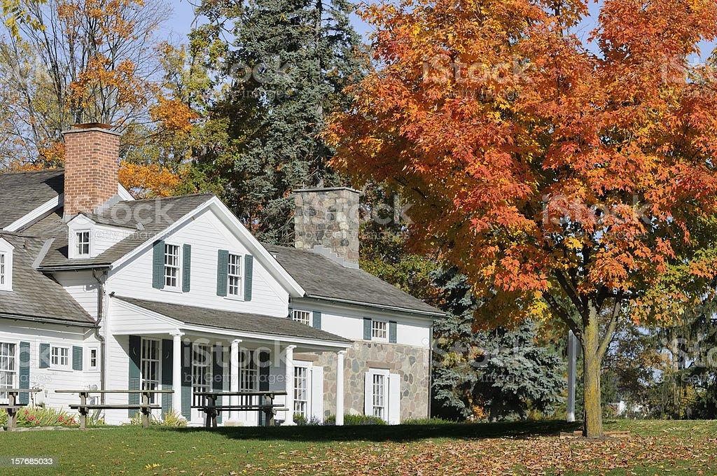 Autumn Farm stock photo