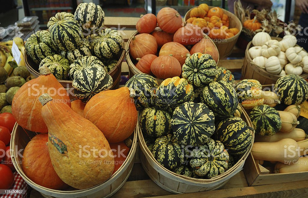 Autumn Farmers' Market royalty-free stock photo