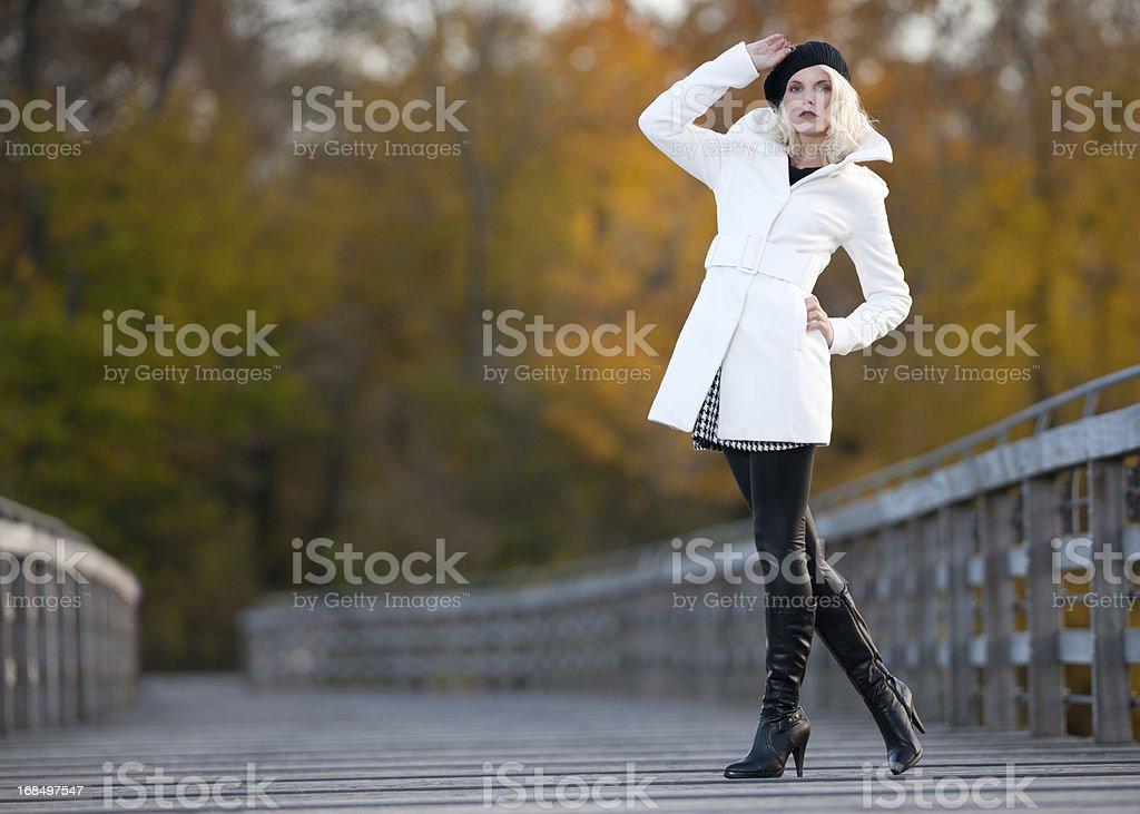 Autumn Fashion, Fall Colors royalty-free stock photo