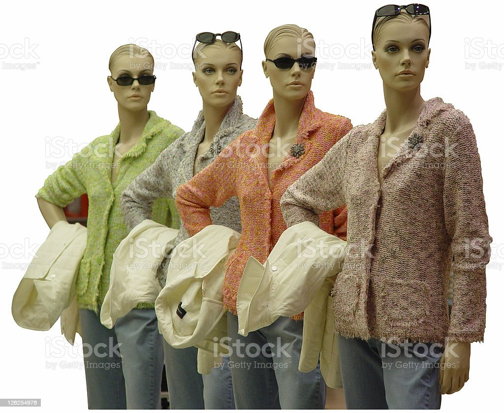 Autumn Fashion - Four Models royalty-free stock photo