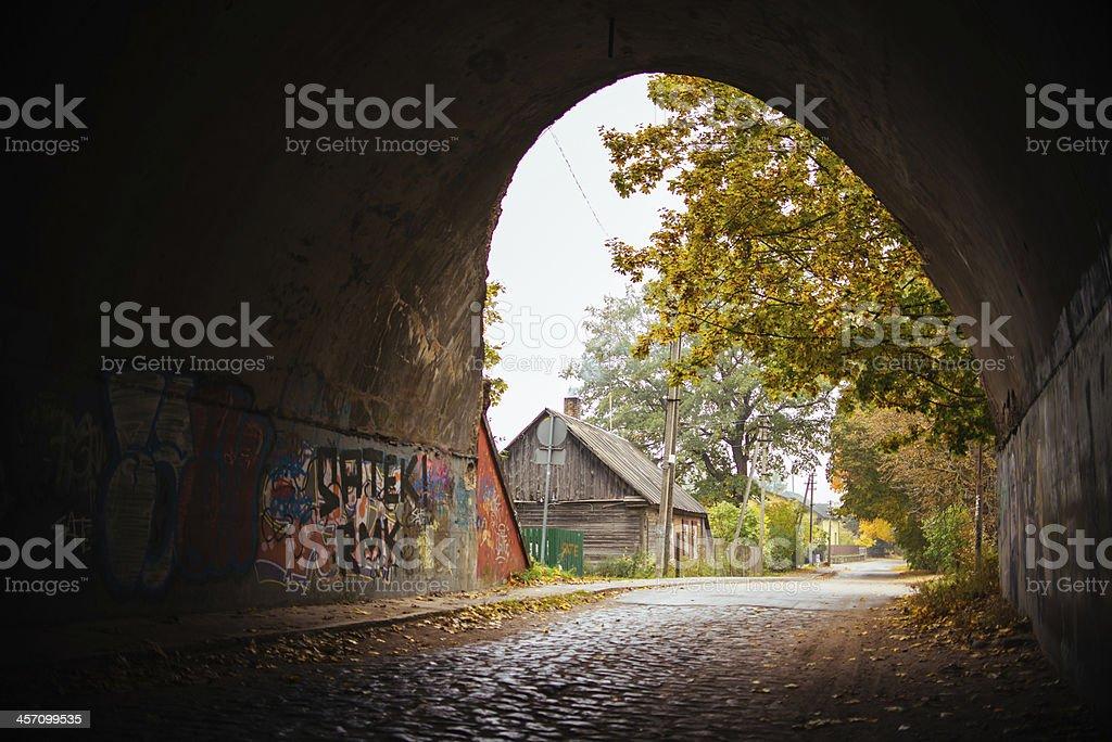 Autumn feeling tunnel royalty-free stock photo