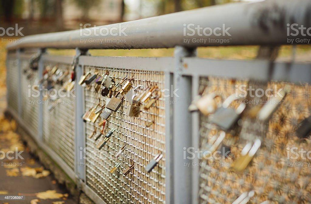 Autumn feeling,wedding locks royalty-free stock photo