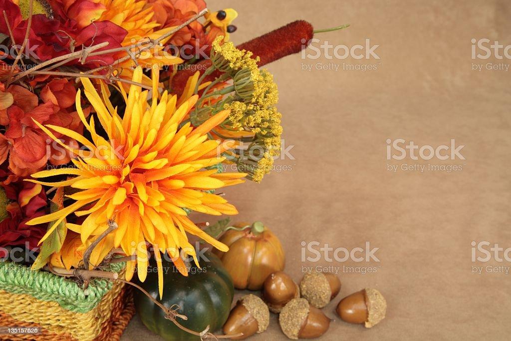 Autumn Flower arrangement and fall Decor stock photo