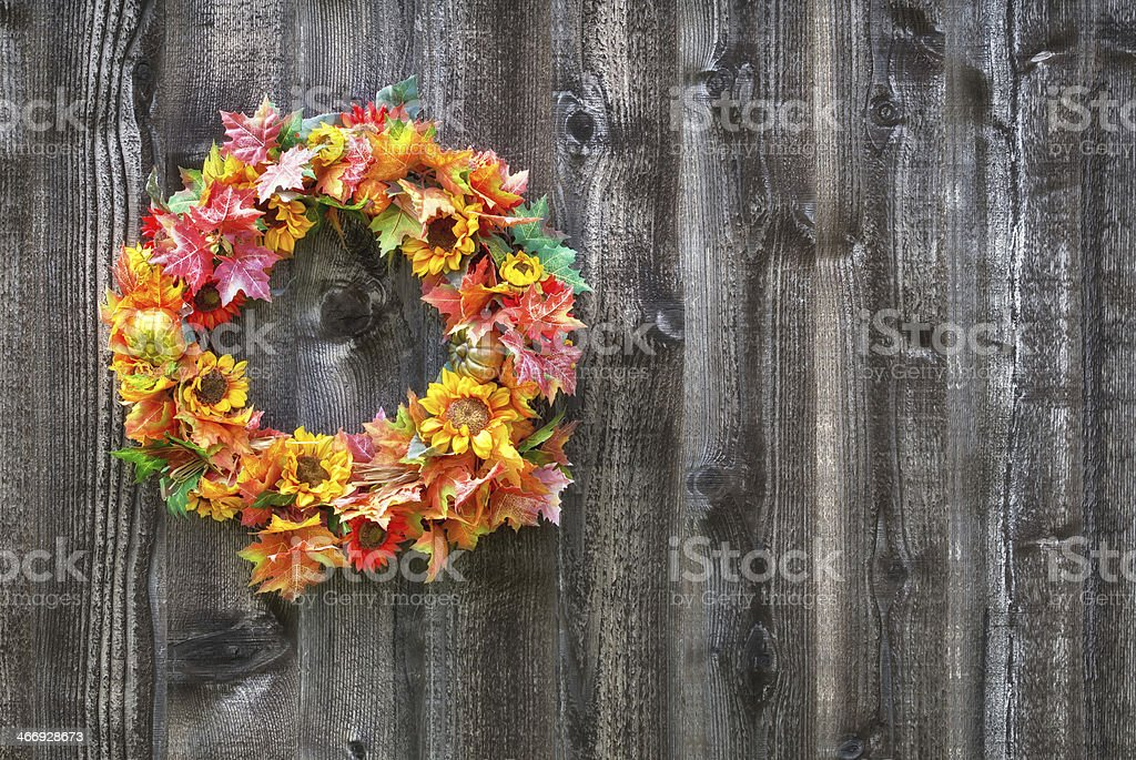 Autumn flower wreath royalty-free stock photo
