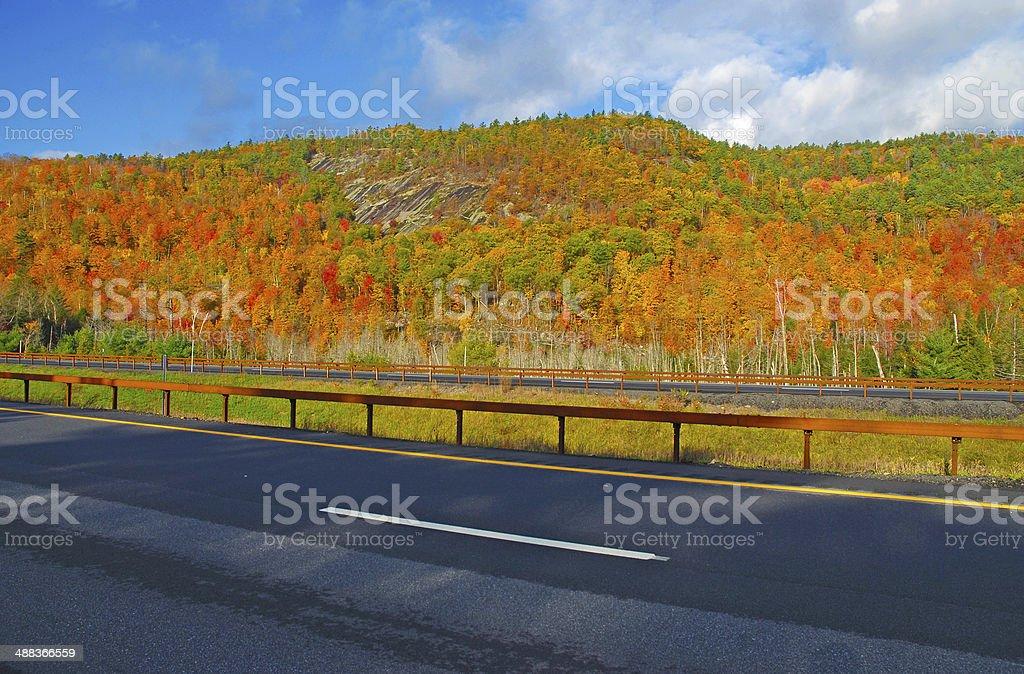 Autumn Foliage, Adirondacks, New York stock photo
