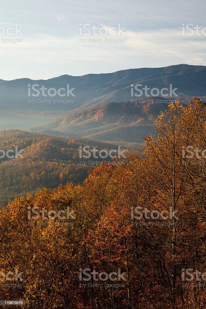 Autumn, Foothills Parkway stock photo