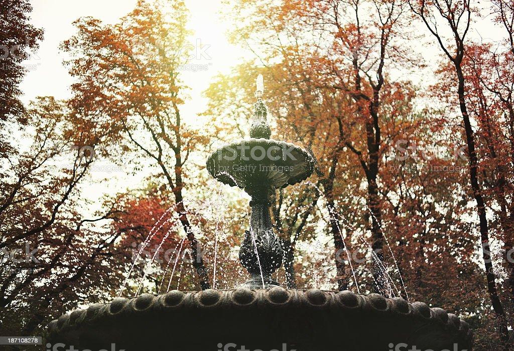 Autumn fountain royalty-free stock photo
