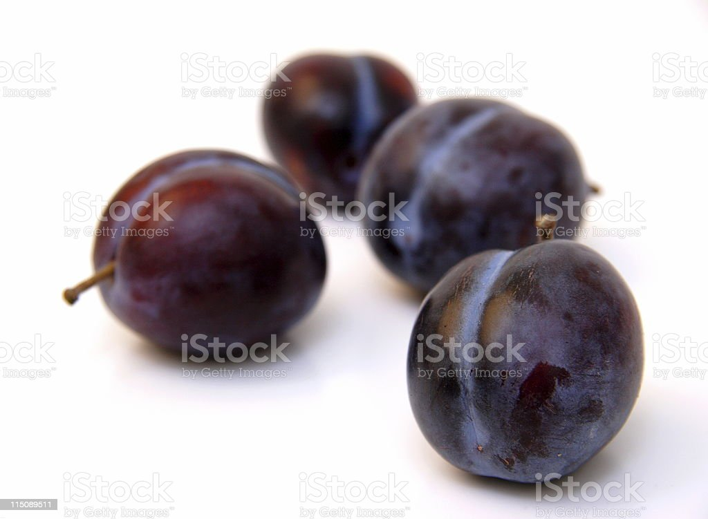 autumn fruit - italian plums royalty-free stock photo