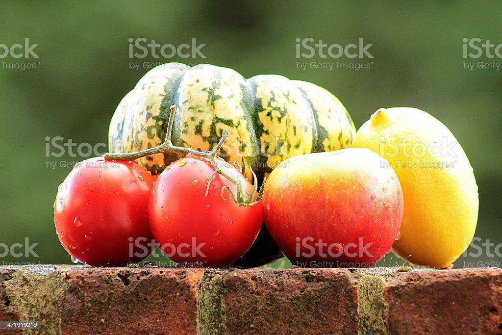 Natura morta di Frutta autunnale foto stock royalty-free