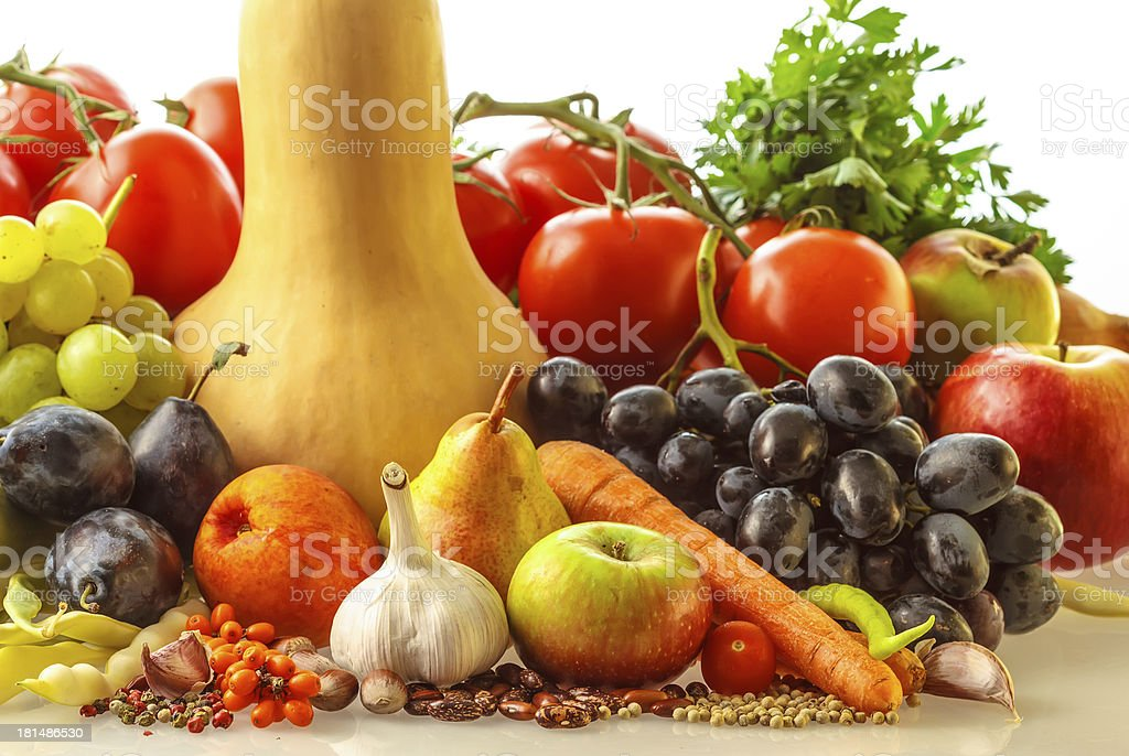 Autumn fruits and vegetables royalty-free stock photo