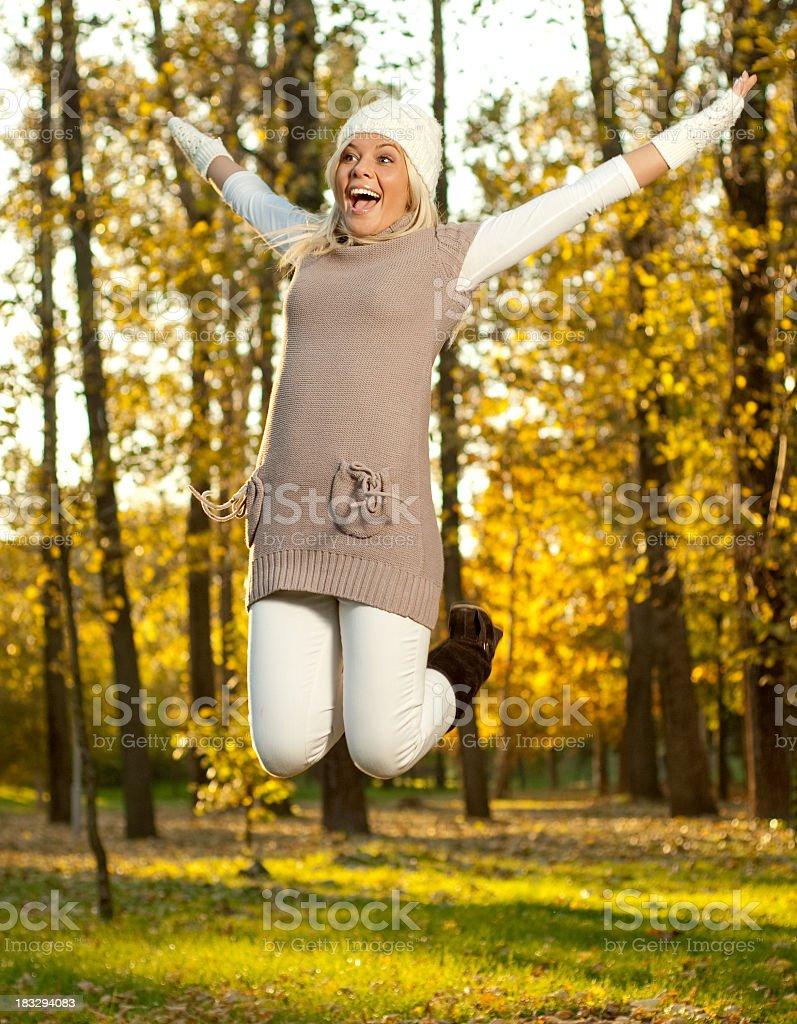 Autumn girl royalty-free stock photo