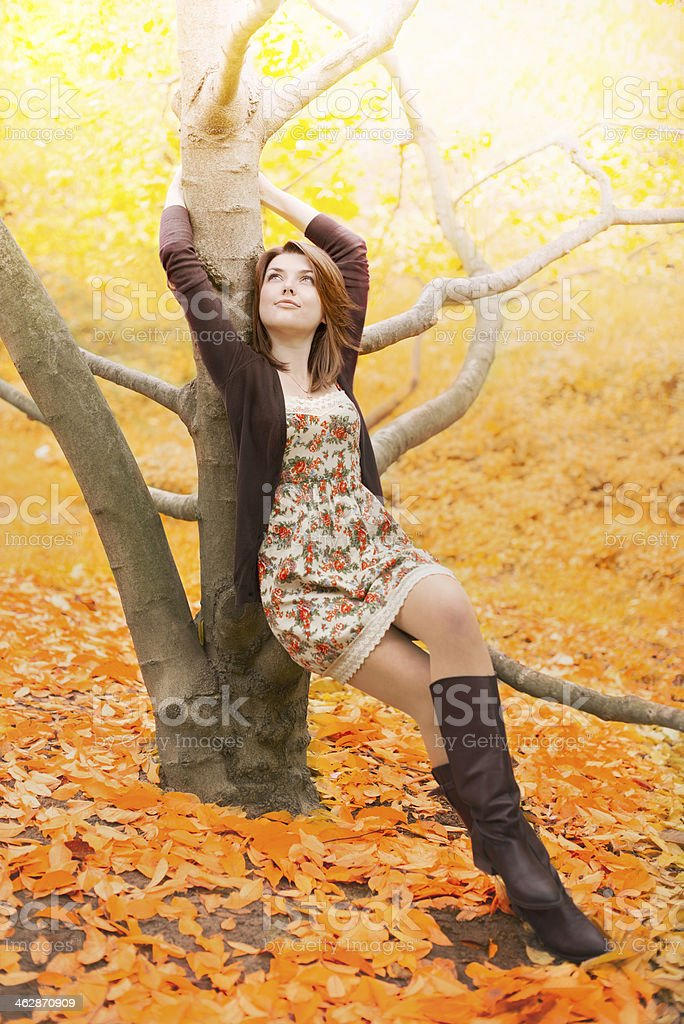 Autumn girl royalty-free stock photo