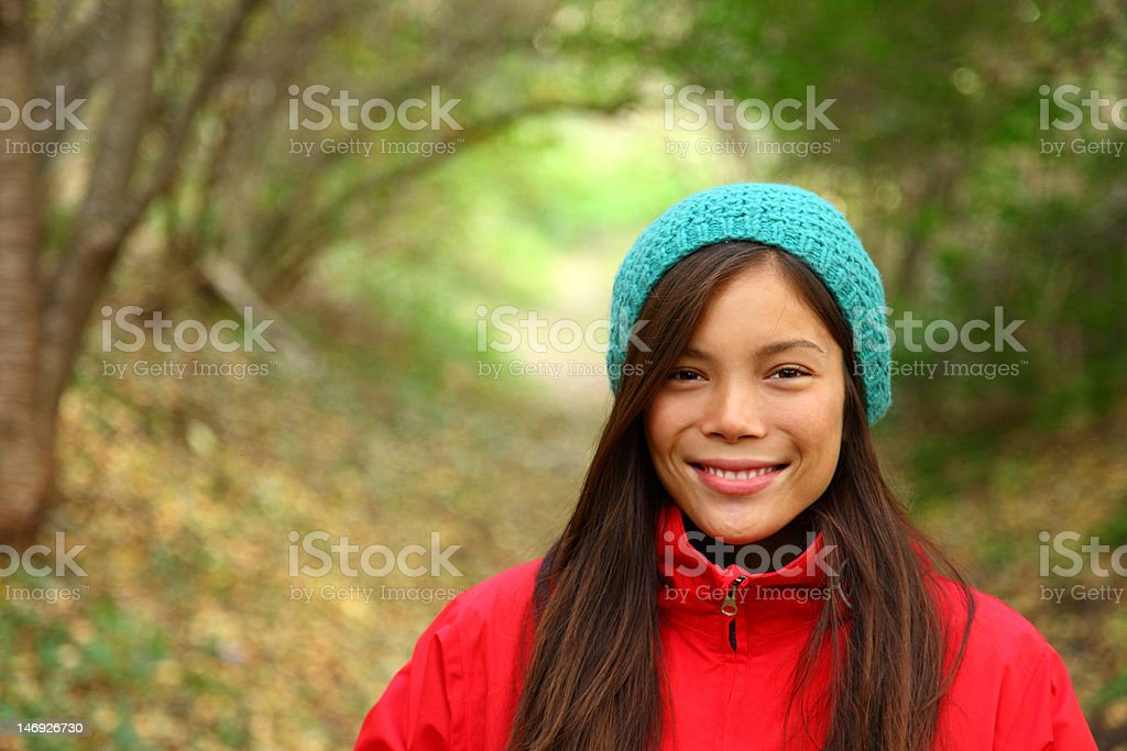Autumn girl portrait royalty-free stock photo