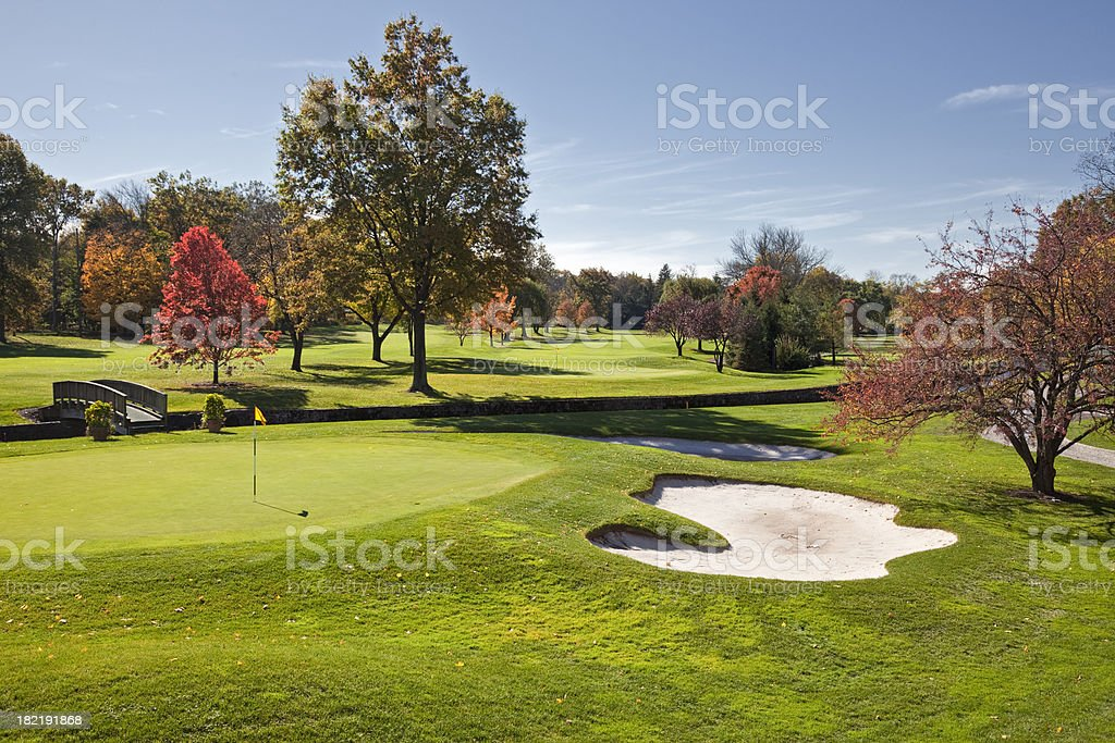 Autumn Golf in New Jersey royalty-free stock photo