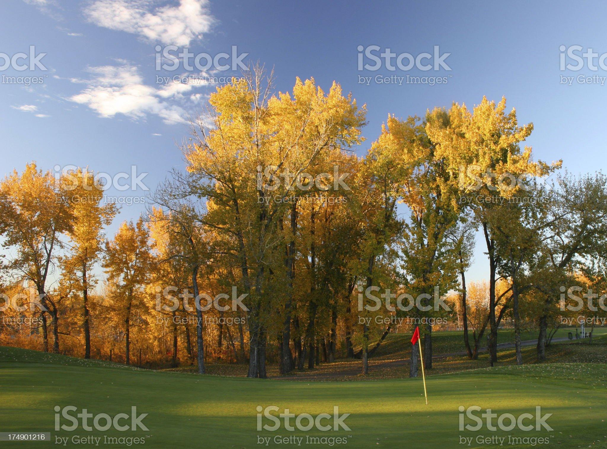 Autumn Golf Scenic royalty-free stock photo
