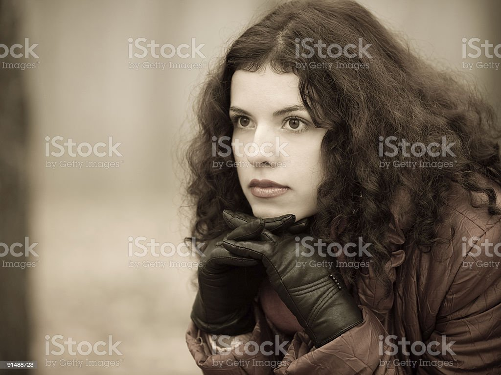 Autumn, grief, dreams and tenderness royalty-free stock photo