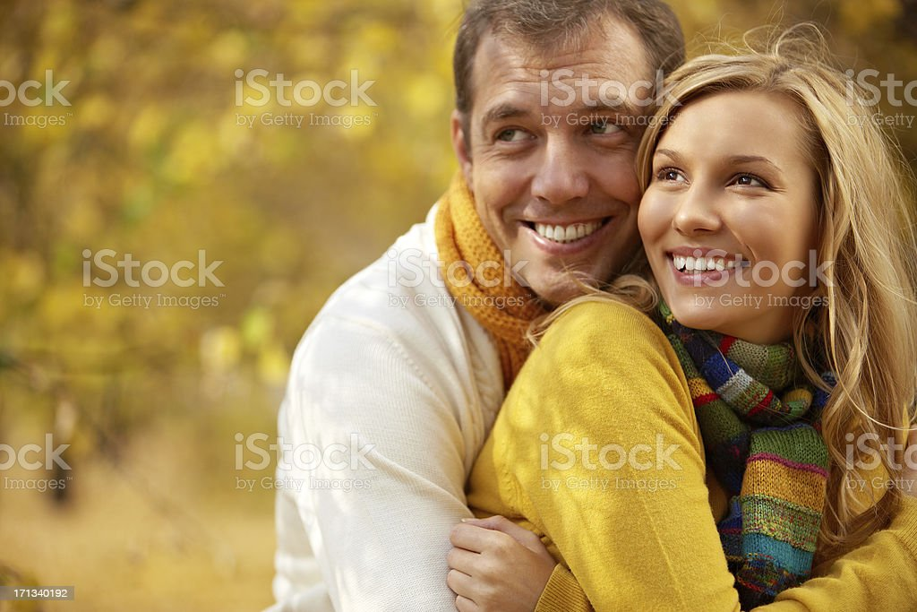 Autumn happiness stock photo